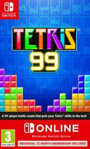 Tetris 99 + 12 Month Nintendo Switch Online (Switch) New £17.95 @ Gamecollection Ebay