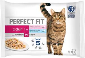 Perfect Fit Wet Cat Food - Advanced Nutrition for Adult Cats 1+, Mixed Fishy Selection in Sauce, 52 Pouches (52 x 85 g) £17.06 @ Amazon