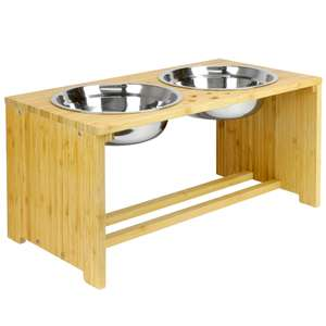 M & W Raised Pet Bowls For Dogs & Cats £17.44 (£15.99 for new customers) Delivered @ Roov
