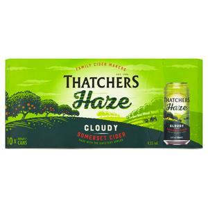 Sainsbury's deals - Thatchers Haze Cloudy Somerset Cider 10x440ml £5.50 /Rolo or Milkybar Dessert 2x70g 50p /Activia 4x110g £1