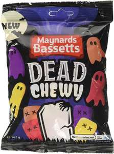 Maynards Bassetts Dead Chewy Halloween Sweets Bag, 162 g 49p (Prime) £4.98 (Non Prime) at Amazon