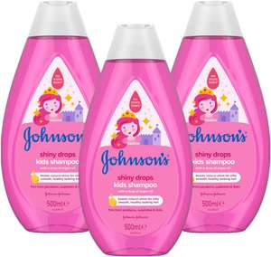 JOHNSON'S Shiny Drops Kids Shampoo Multipack 3 x 500 ml £7.50 / £11.99 nonPrime at Amazon (£7.12 with S&S)