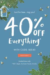 40% off everything at Joules using code