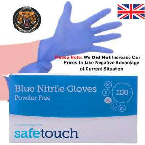 Nitrile Disposable Gloves SafeTouch Powder Free Box Of 200 Medium £7.99 - ebay / le-ltd