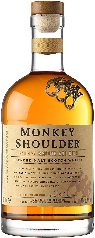 Monkey Shoulder Blended Malt Whisky, 70 cl - £22 @ Amazon