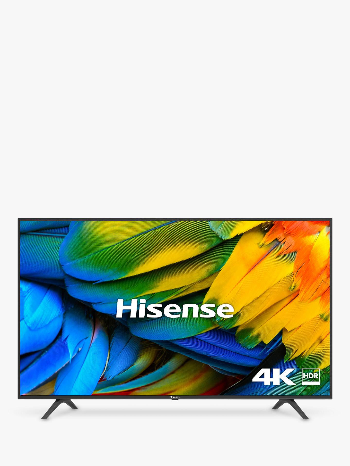 "Hisense H43B7100UK (2019) LED HDR 4K Ultra HD Smart TV, 43"" with Freeview Play, Black/Silver+ 5 year guarantee £249 @ John Lewis & Partners"