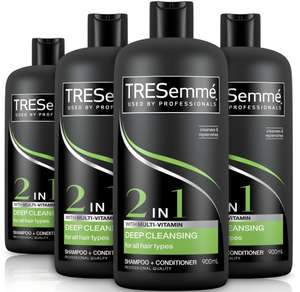(4 x 900 ml) TRESemme Shampoo and Conditioner, Cleanse and Renew,4-Month Supply (£7.59 with S&S) - £7.99 (Prime) +4.49 (Non prime) @ Amazon
