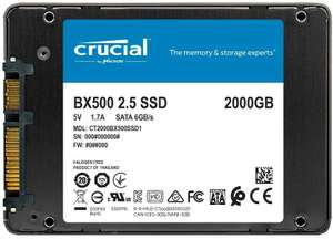 Crucial BX500 CT2000BX500SSD1 2 TB Internal SSD (3D NAND, SATA, 2.5 Inch) - £155.99 delivered @ Amazon