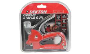 Dekton Professional Compact Staple Gun with Optional Extra Staples from £6.58 delivered at Groupon