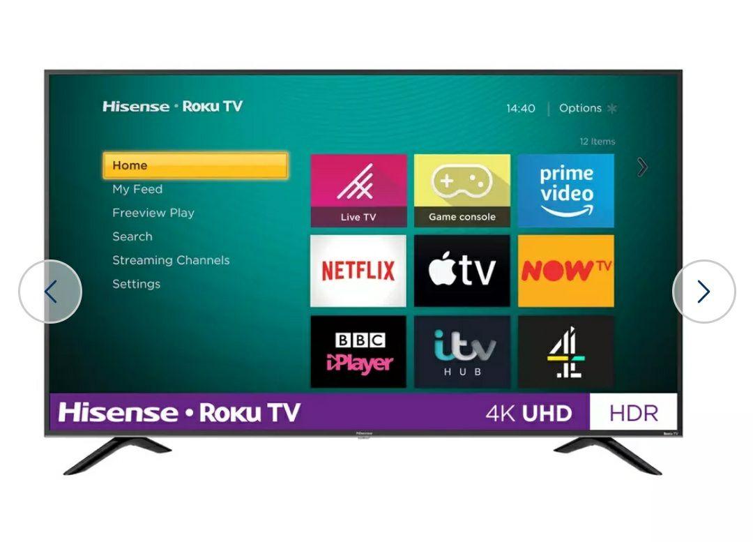 Hisense Roku TV 50 Inch R50B7120UK £284.05 4K Smart LED TV with HDR @ Argos Ebay