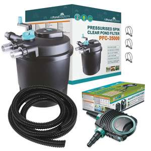 All Pond Solutions PFC-25000 FULL KIT Checking out at £269.99 @ All Pond Solutions
