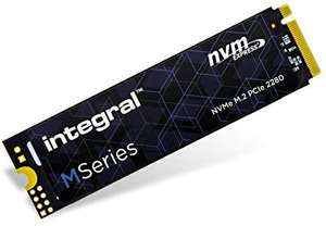 Integral 256GB NVMe M.2 Internal SSD (Upto 2000MB/s Read / 1200MB/s Write) £35.28 Delivered @ Amazon