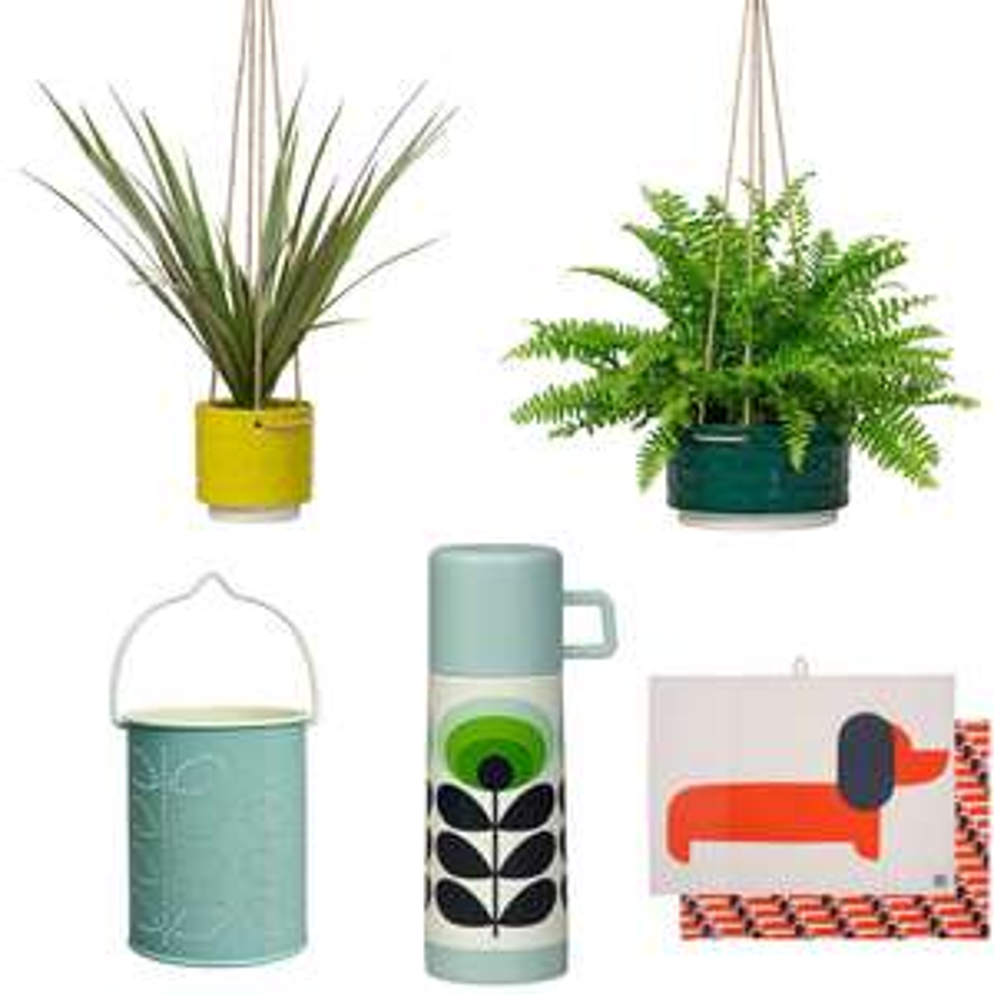 Orla Kiely Sale - EG: Orla Kiely Tealight Lantern £9.50 / Sixties Stem Small Ceramic Hanging Pot £14.48 Delivered @ Temptation Gifts