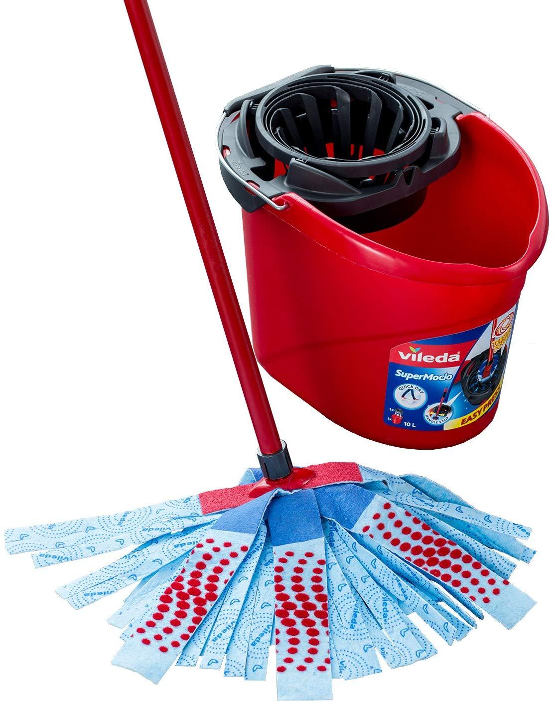 Vileda SuperMocio 3Action XL Mop and Bucket Set, Red/Blue £12.75 at Amazon Prime / £17.24 Non Prime