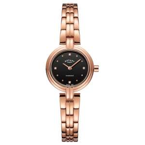 Women's Rotary LB00414-15 diamonds black dial wristwatch for £49 delivered @ H. S. Johnson