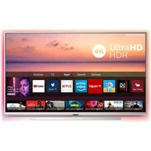 """Philips 65PUS6814 65"""" 4K UHD Smart TV W/ Ambilight, HDR 10+, Dolby Vision/Atmos, Alexa - Silver (2019) - £584.10 Delivered @ AO / eBay"""