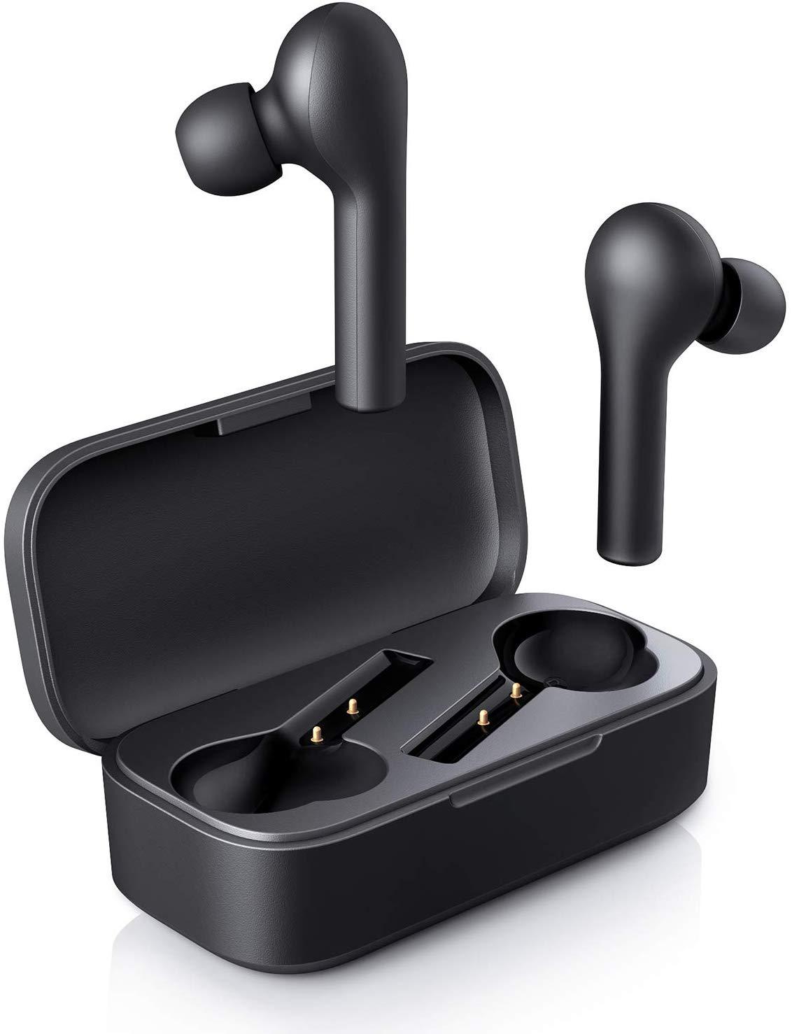 AUKEY Wireless Headphones, Bluetooth Headphones 5.0 with Charging Case, 5h + 20h Playtime, Waterproof £25.49 @ Amazon