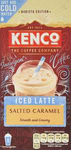 Kenco Iced Latte Salted Caramel Instant Coffee 8 Sachets 230 g (5 Boxes of 8 Sachets) - £2.49 Prime / +£4.49 non Prime @ Amazon