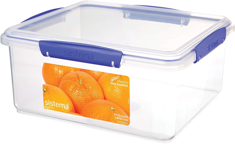 Sistema KLIP IT Food Storage Container, Blue Clips, 5 Litre - £4 (Prime) £8.49 (Non-Prime) @ Amazon