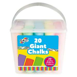 20 Giant Chalks (7 different colours) from Galt Toys for £3.99 (£3.95 delivery / free on £30 spend)