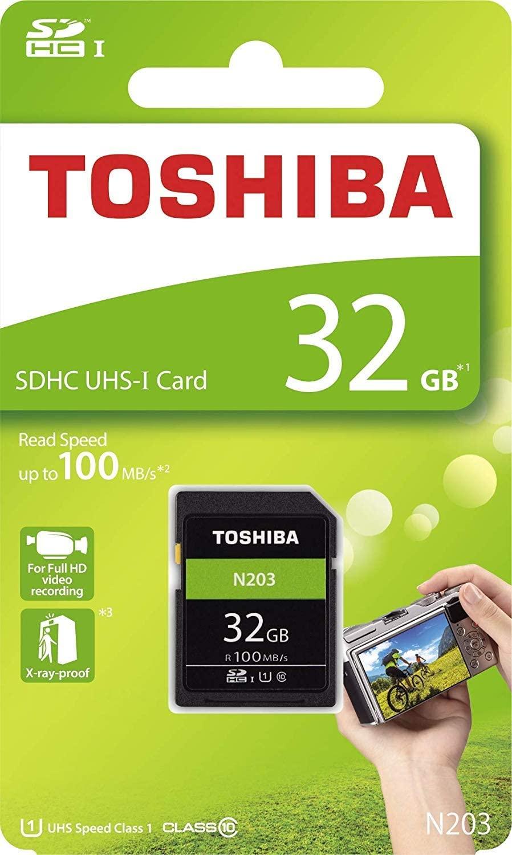 Toshiba 32GB N203 Class 10 U1 100MB/s SD Card £2.54 (+ £4.49 Non Prime) @ Amazon