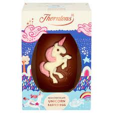 Thorntons Milk Chocolate Unicorn Easter Egg / Milk Chocolate Dinosaur Easter Egg / Chocolate Bunny Egg / White Chocolate Bunny Egg £2 @ Asda