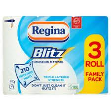 Regina Blitz XL Kitchen Rolls 3 pack £3 @ Asda