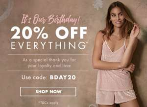 20% off of everything at Boux Avenue including sale! Items from £1.60