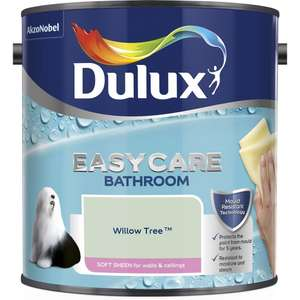 Dulux Easycare Bathroom Soft Sheen Emulsion Paint Willow Tree 2.5L - £17 + £5 Delivery @ Wilko