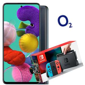 Samsung Galaxy A51 128GB on o2 + Nintendo Switch - Unlimited Minutes and texts, 60GB £43pm (£446 cashback - effective £26.50pm) @ MPD