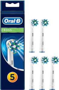 Oral-B CrossAction Electric Toothbrush Replacement Heads Powered by Braun - Pack of 5 - £8.55 (Prime) £13.04 (Non Prime) @ Amazon
