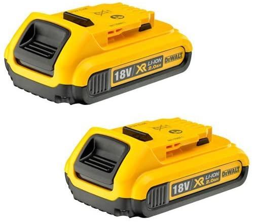 2 x DEWALT Genuine 18V XR 2.0Ah battery - £25.99 @ Amazon