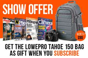 Photo Magazine subscription + Free Lowepro Tahoe 150 camera bag - £45 @ MyFavouriteMagazines