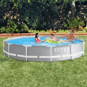 Intex 12ft (3.7m) Round Prism Frame Pool with Filter Pump £99.99 Delivered @ Costco