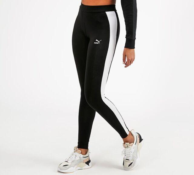 Puma Womens Logo T7 Leggings   Black £11.99 with code + Free delivery @ Footasylum