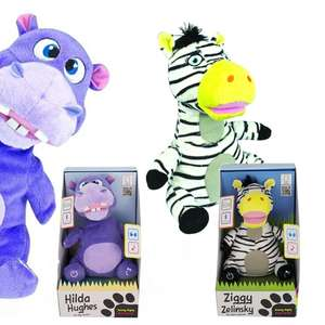 Icandy Hilda Hughes Hippo Safari Party Dancing Bluetooth Cuddly Speaker £4.49 / Ziggy Zeleski £4.99 + Both Have Free Delivery @ Box