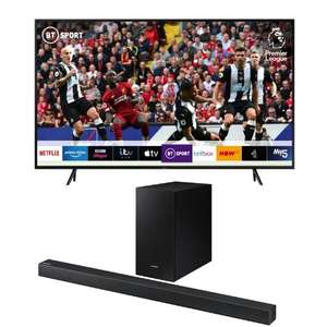 "Samsung QLED QE75Q60RA 75"" Smart HDR 4K Ultra HD TV + Samsung HW-R430 Sound Bar & WIreless Sub £1,299 Delivered @ AO"