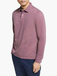 John Lewis & Partners Garment Dye Long Sleeve jersey cotton Polo Top, 3 colours, £15.75 (+£3.50 delivery) at John Lewis and Partners
