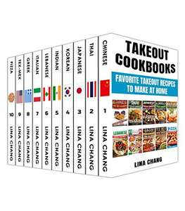 Takeout Cookbooks 10 in 1 (Chinese /Thai/ Japanese/ Korean/ Indian/ Lebanese/ Italian/ Greek/ Tex-Mex/ Pizza) Kindle Edition Free @ Amazon