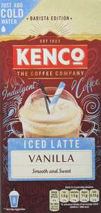 Kenco Iced Latte Vanilla Instant Coffee 8 Sachets 230 g (5 Boxes of 8 Sachets, Total 40 Servings) £2.50 + £4.49 NP @ Amazon