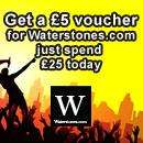 Spend £25 at HMV (today only) and get a £5 voucher for Waterstones.com