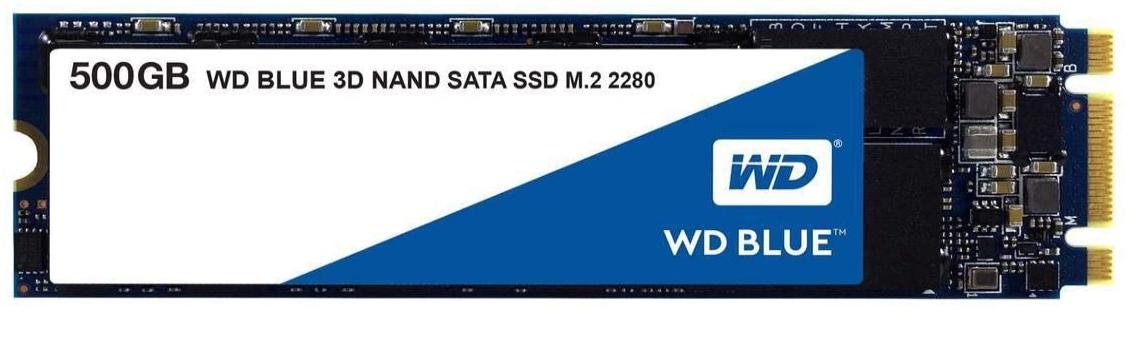 Western Digital WDS500G2B0B WD Blue 3D NAND Internal SSD M.2 SATA, 500 GB - Black- £54.67 @ Amazon
