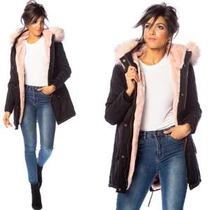 My Softy Women's Fur Hooded Parka Jacket (4 designs) £8.29 + Free delivery @ Groupon