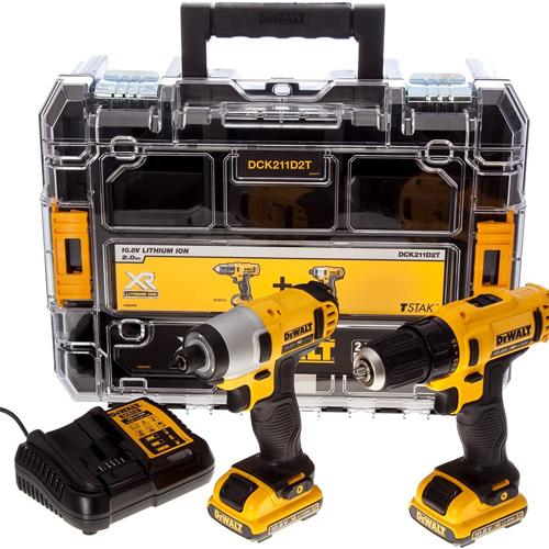 Dewalt DCK211D2T 10.8v XR 2 Piece Kit with - Impact Driver / Drill Driver / 2 x 2Ah Batteries / Charger / Case £119.99 Delivered @ ITS