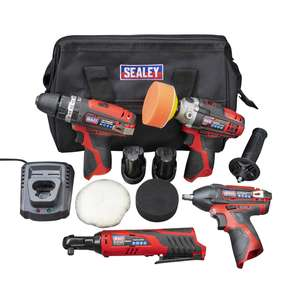 Sealey CP1200 4pc 12v Power Tool Kit - Also Includes Bag & Polishing Accessories £199.99 Delivered @ Euro Car Parts