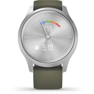Garmin Vivomove Style Silver Tone with Green Silicone Band Smartwatch for £199 delivered @ hsjohnson.com