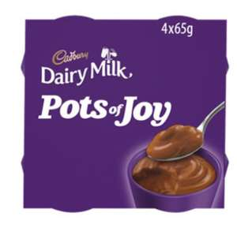 4x Cadbury's Pots of Joy Chocolate / Turkish Delight / Choc Orange / White Buttons / Creme Egg Dessert 65G £1 @ Asda