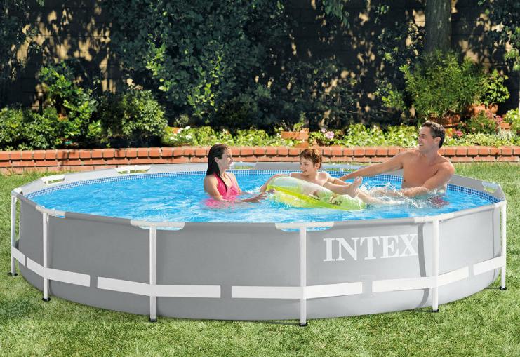 Intex 12ft (3.7m) Round Prism Frame Pool + Filter Pump - £79.99 Delivered @ Costco