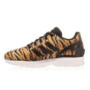 Womens Adidas ZX Flux Animal Print Black/Orange Trainers £12.99 delivered @ bigbrandoutlet2015 ebay