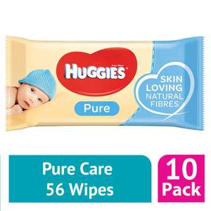 2 x 10 Packs Of Huggies Pure Baby Wipes (1120 Wipes) For £10 @ Farmfoods